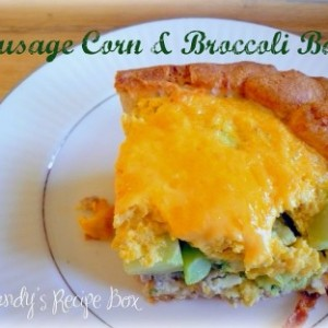 Sausage Corn & Broccoli Bake {Totally Tasty Tuesdays}