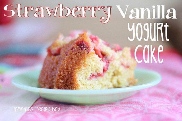 Strawberry Vanilla Yogurt Cake
