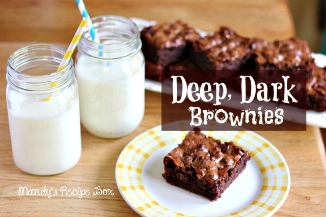 Deep, Dark Brownies are for the ultimate brownie lover. Full of a rich ...
