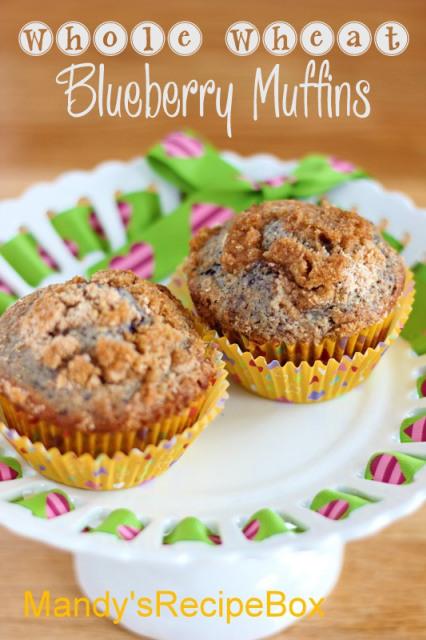 Whole Wheat Blueberry Muffins | Mandy's Recipe Box
