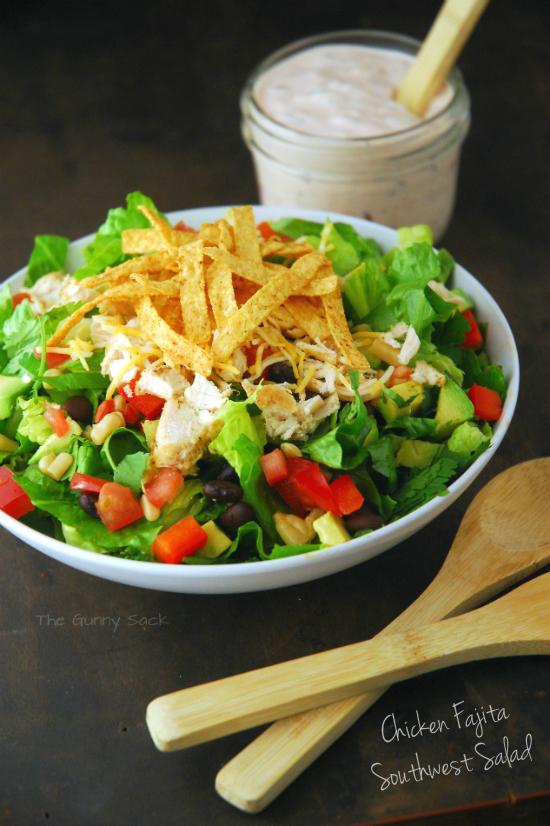 Chicken Fajita Southwest Salad Recipe