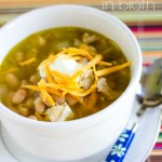 White Chicken Chili {in broth}