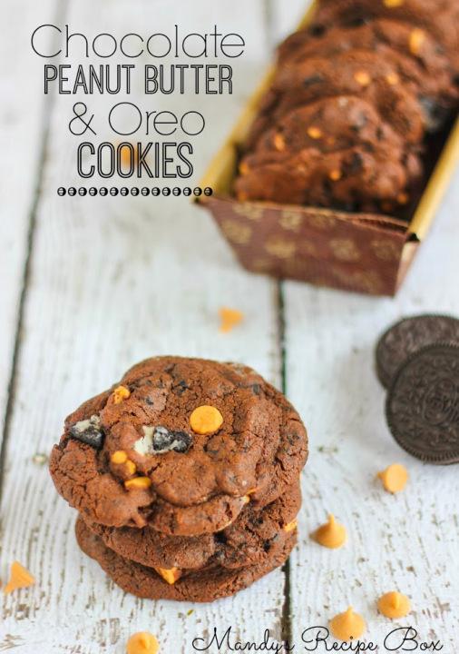 Chocolate Peanut Butter and Oreo Cookies | Mandy's Recipe Box