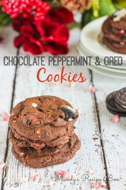 Chocolate Peppermint & Oreo Cookies | Mandy's Recipe Box