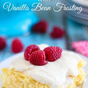 Skinny Cake with Vanilla Bean Frosting