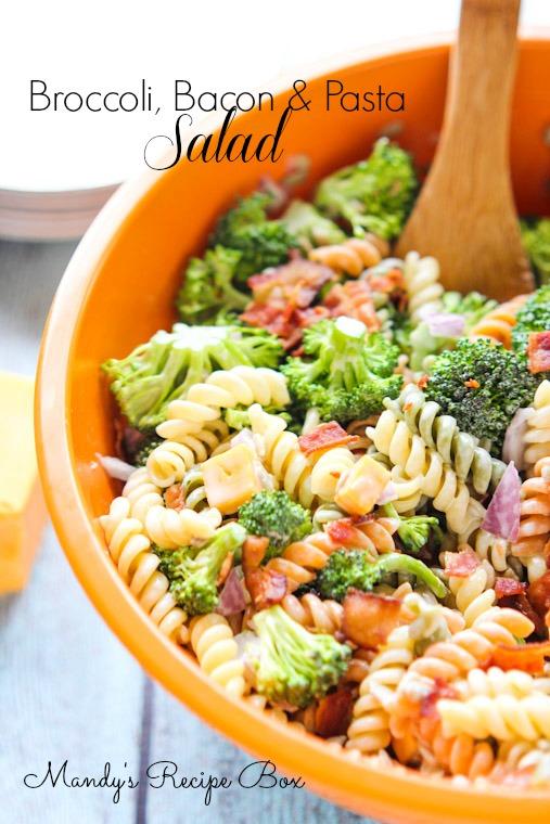 Broccoli Bacon & Pasta Salad | Mandy's Recipe Box
