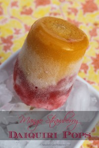 Mango Strawberry Daiquiri Pops from MadeFromPinterest.net