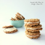Oatmeal Sandwich Cookies with Maple Buttercream Filling