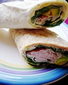 Turkey and Avocado Wraps