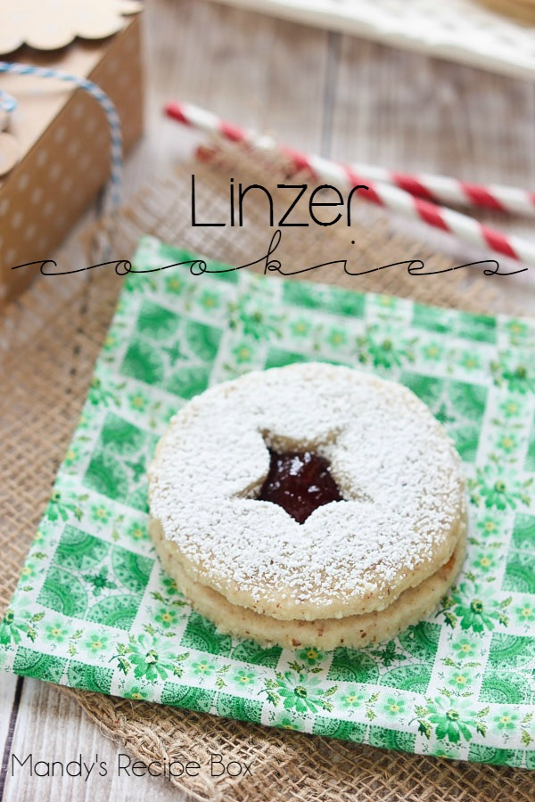 linzer cookies - Classic Christmas Desserts