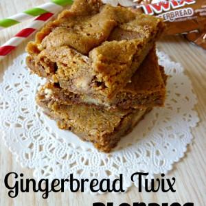 Gingerbread Twix Blondies