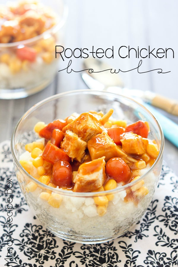 Roasted Chicken Bowls #CampbellsSauces