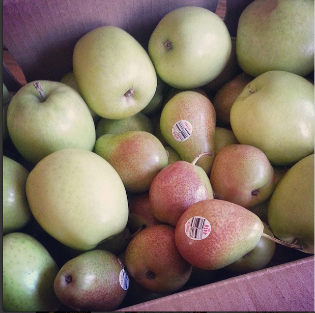 Forelle Pears and Green Dragon Apples