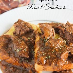 Open Faced Roast Sandwich