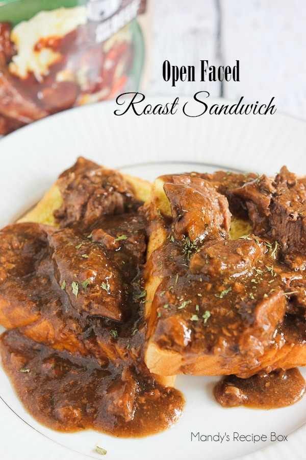 Open Faced Roast Sandwich #CampbellsSauces