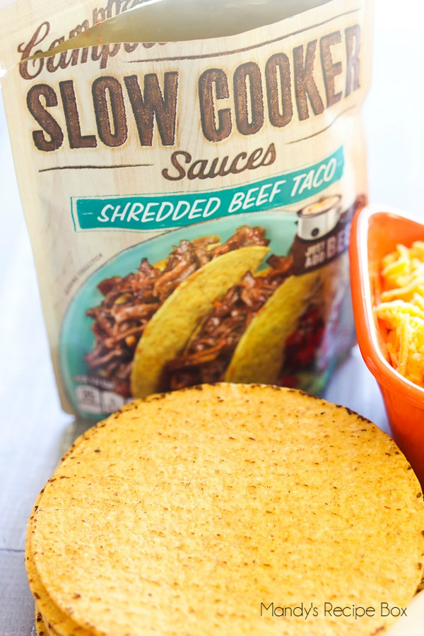 Campbell's Slow Cooker Sauces Shredded Beef Taco #CampbellsSauces
