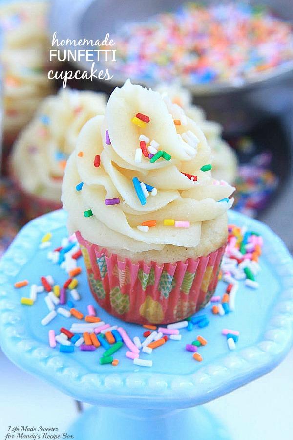 Homemade Funfetti Cupcakes Mandy S Recipe Box