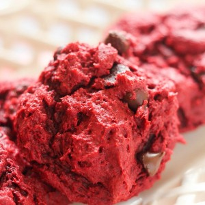 Red Velvet Gooey Cookies