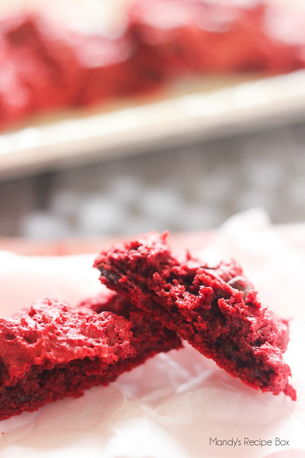 Red Velvet Gooey Cookies on Mandy's Recipe Box
