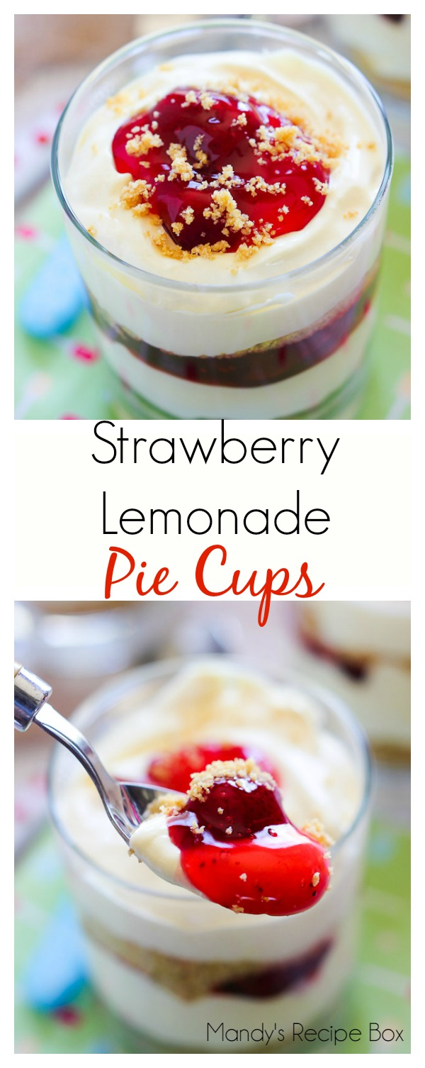 Strawberry Lemonade Pie Cups