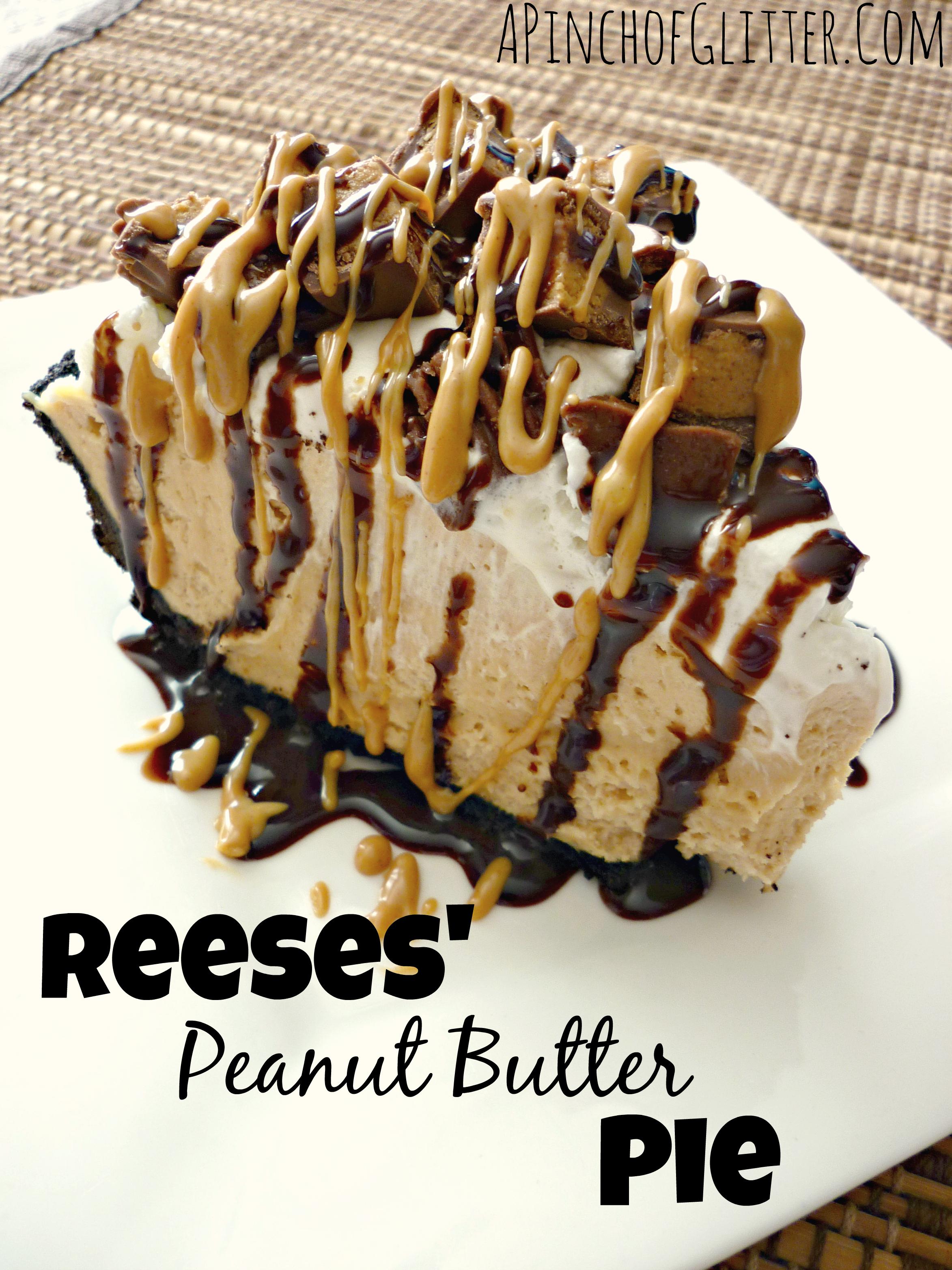 Reese's Peanut Butter Pie | mandysrecipeboxblog.com
