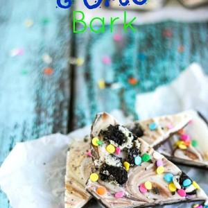 Cake Batter Oreo Bark