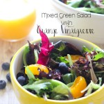Mixed Green Salad with Orange Vinaigrette