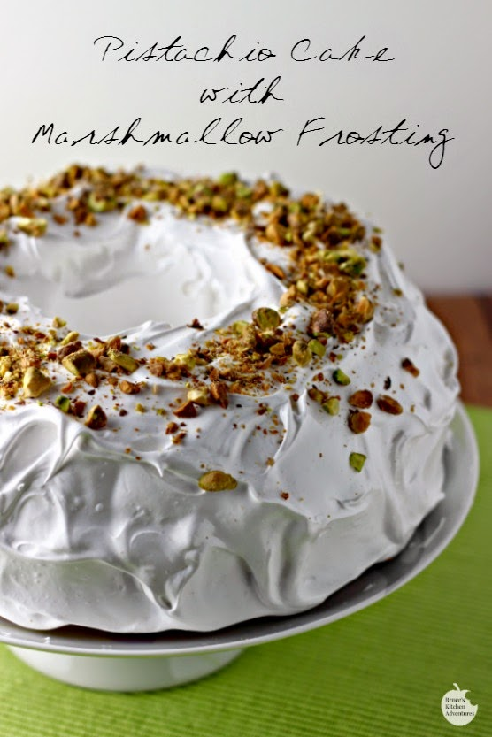 Pistachio Cake With Marshmallow Frosting Mandy S Recipe Box