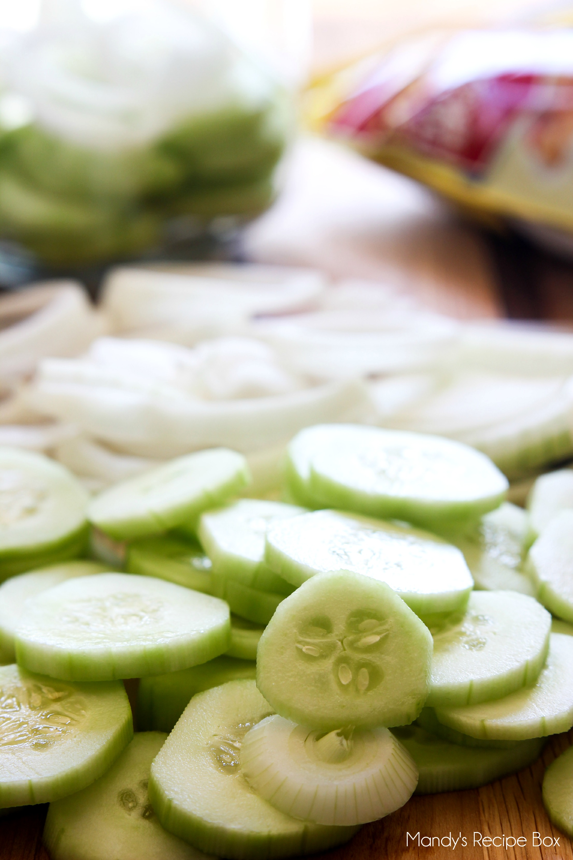 Cucumbers in Vinegar #SweetSwaps #SplendaSweeties