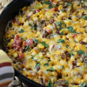 Baked Corn and Sausage Dip