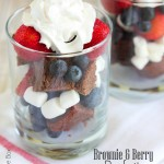 Brownie and Berry Parfaits