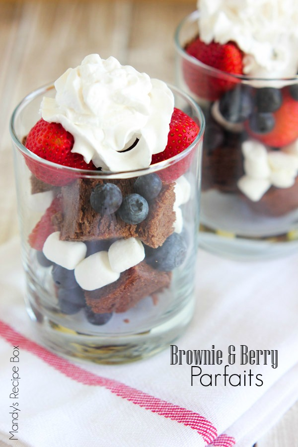 Brownie & Berry Parfaits {Mandy's Recipe Box}