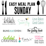 Easy Meal Plan Sunday #11