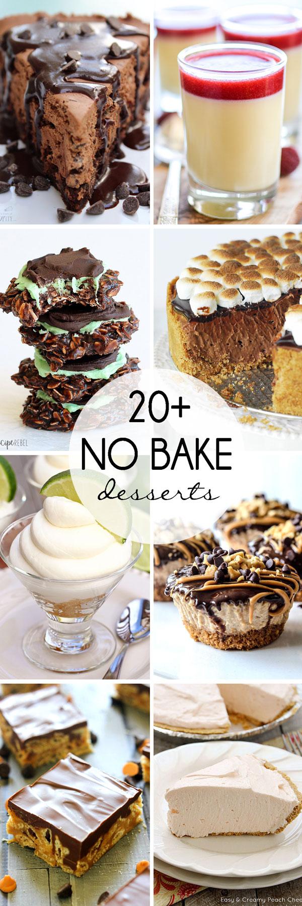 20+ No Bake Desserts.