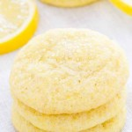 Sugar Crusted Lemon Cookies
