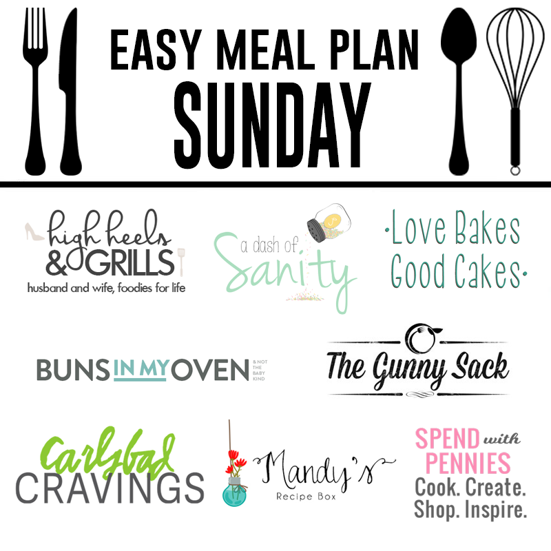 Easy Meal Plan Sunday #8