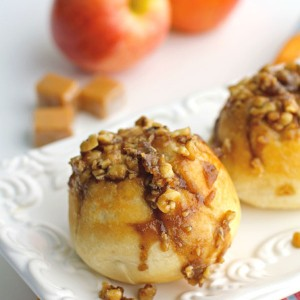 Caramel-Apple Sticky Biscuits