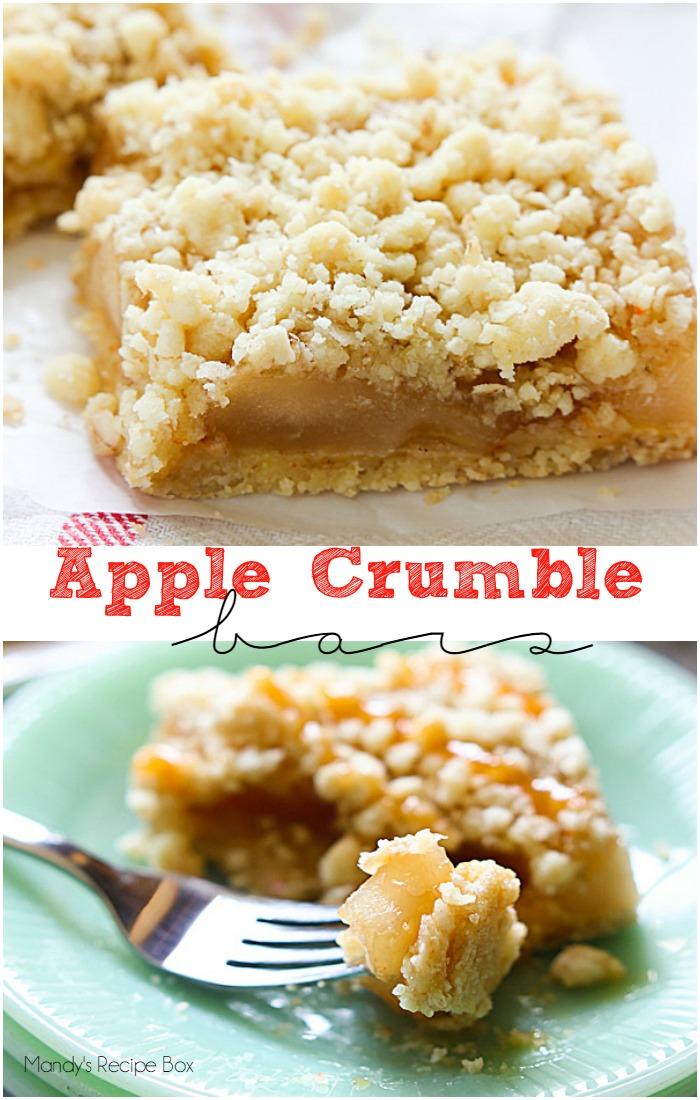 Apple Crumble Bars | mandysrecipeboxblog.com