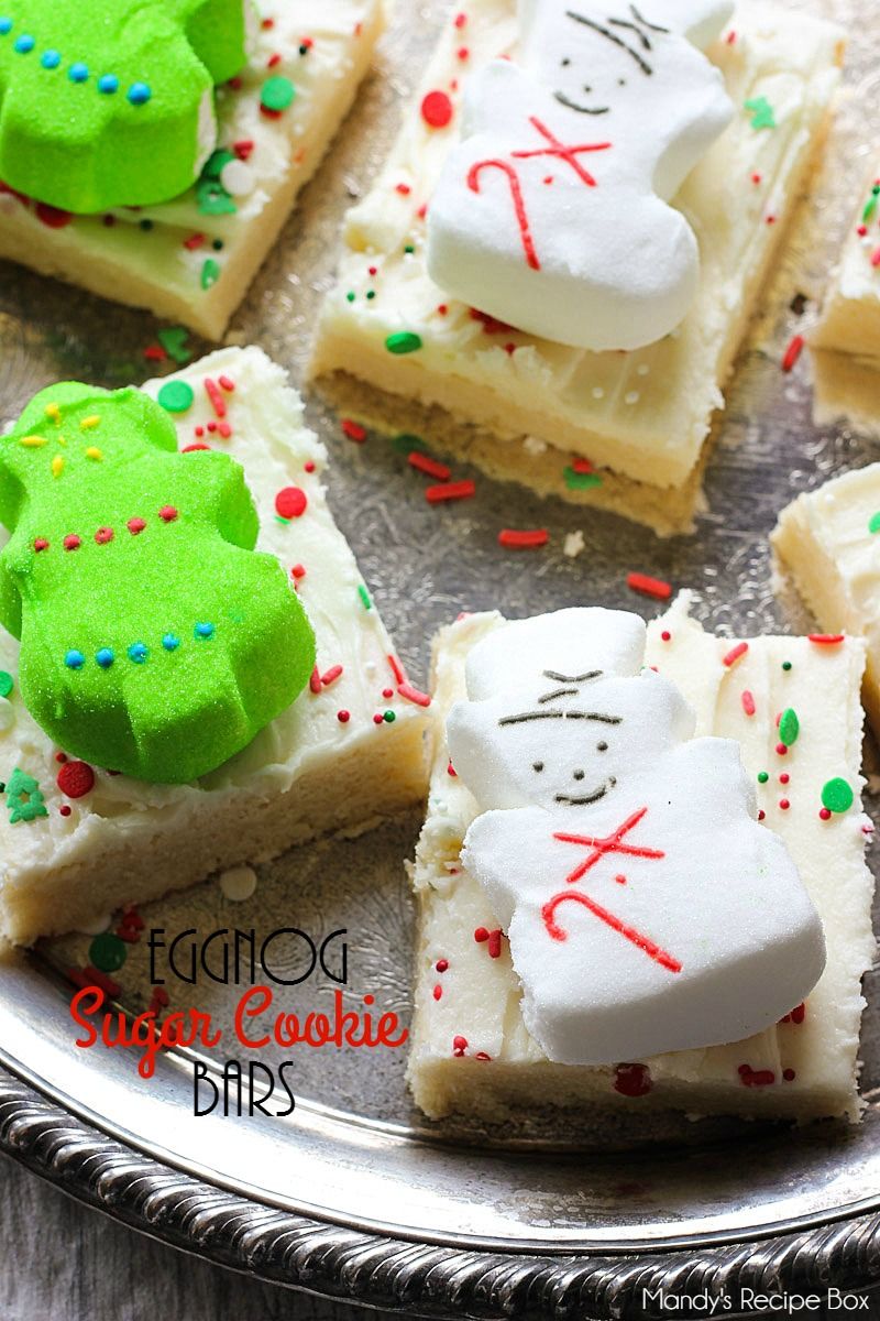 Eggnog Sugar Cookie Bars