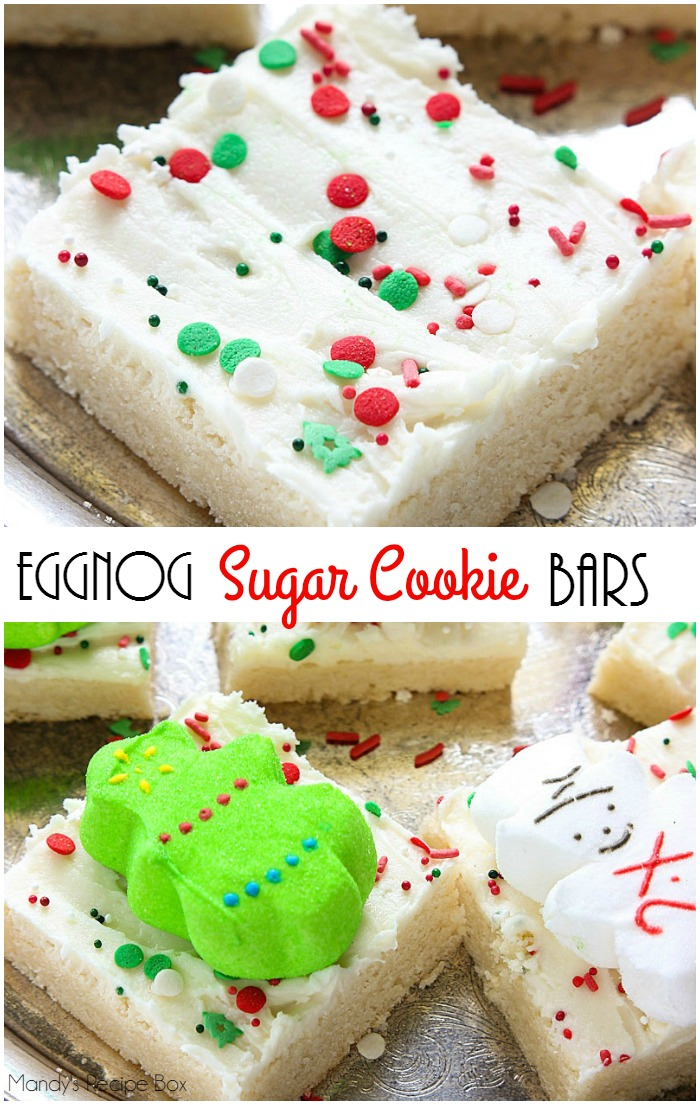 eggnog sugar cookie bars mandys recipe box - Christmas Bar Cookies