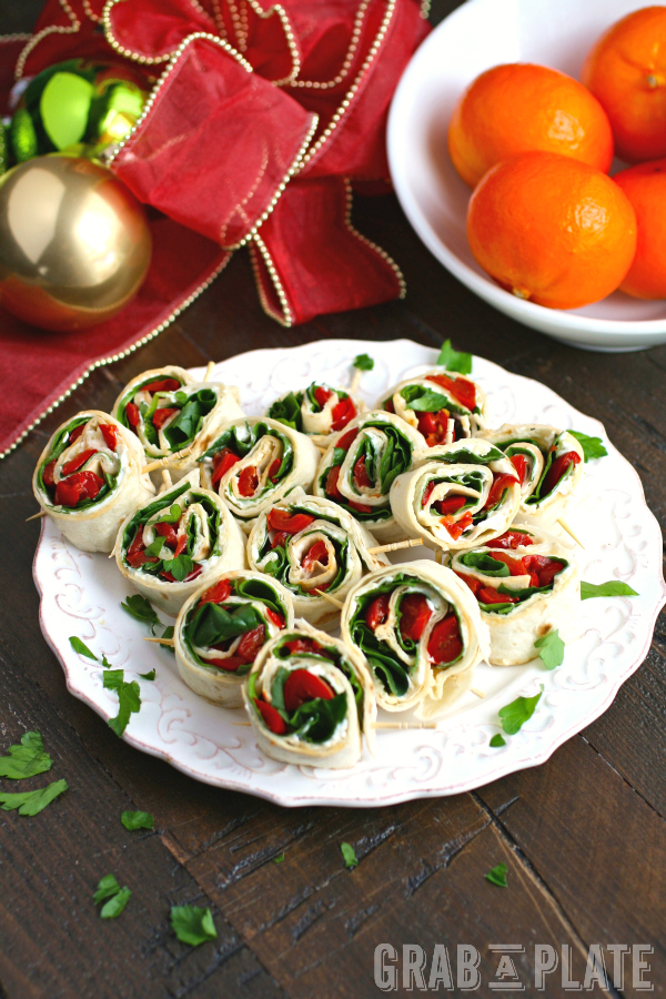 Easy Swiss, Spinach, and Red Pepper Pinwheels