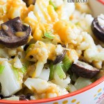 Cheesy Cauliflower, Mushrooms and Leeks