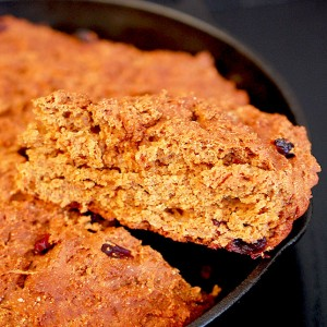 Whole Wheat Greek Yogurt Cranberry Molasses Bread
