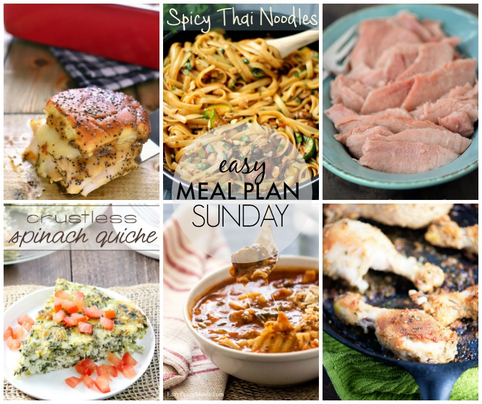 Easy Meal Plan Sunday #37