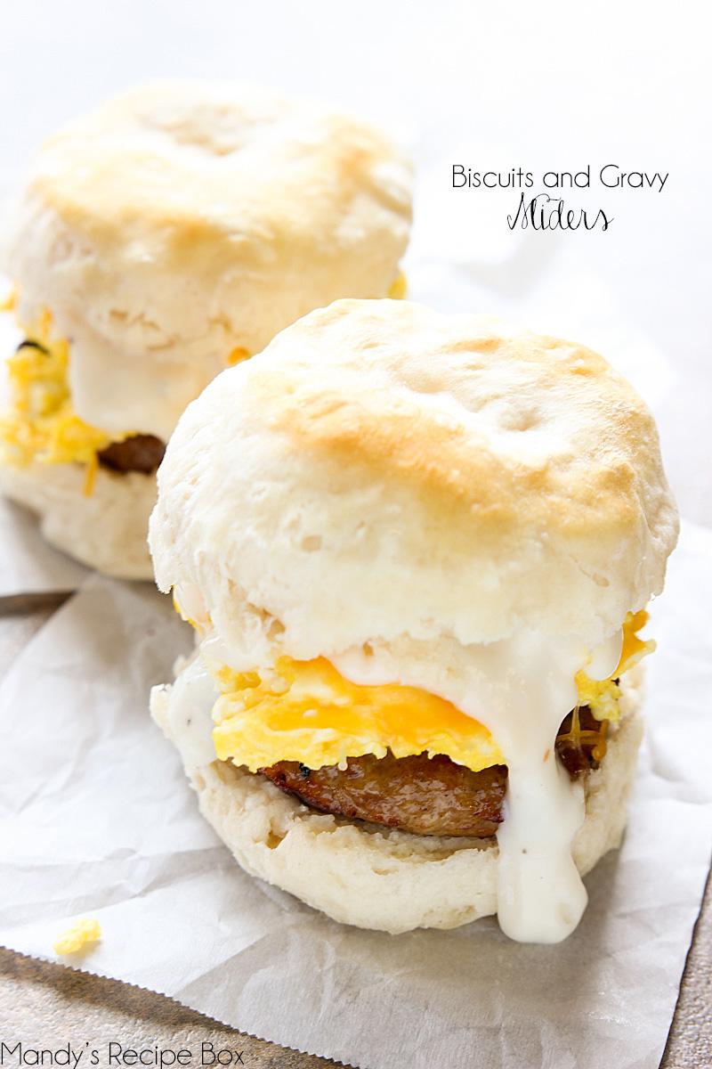 Biscuits and Gravy Sliders | Mandy\'s Recipe Box