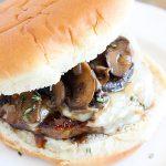 Mushroom Sausage Burger