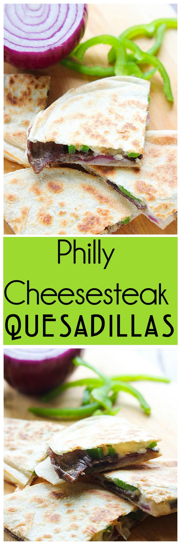 Philly Cheesesteak Quesadillas