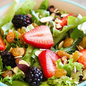 Summer Berry Salad and My Healthy Eating Tips