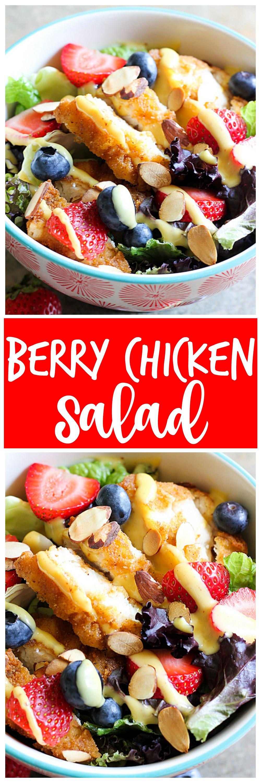 Berry Chicken Salad collage