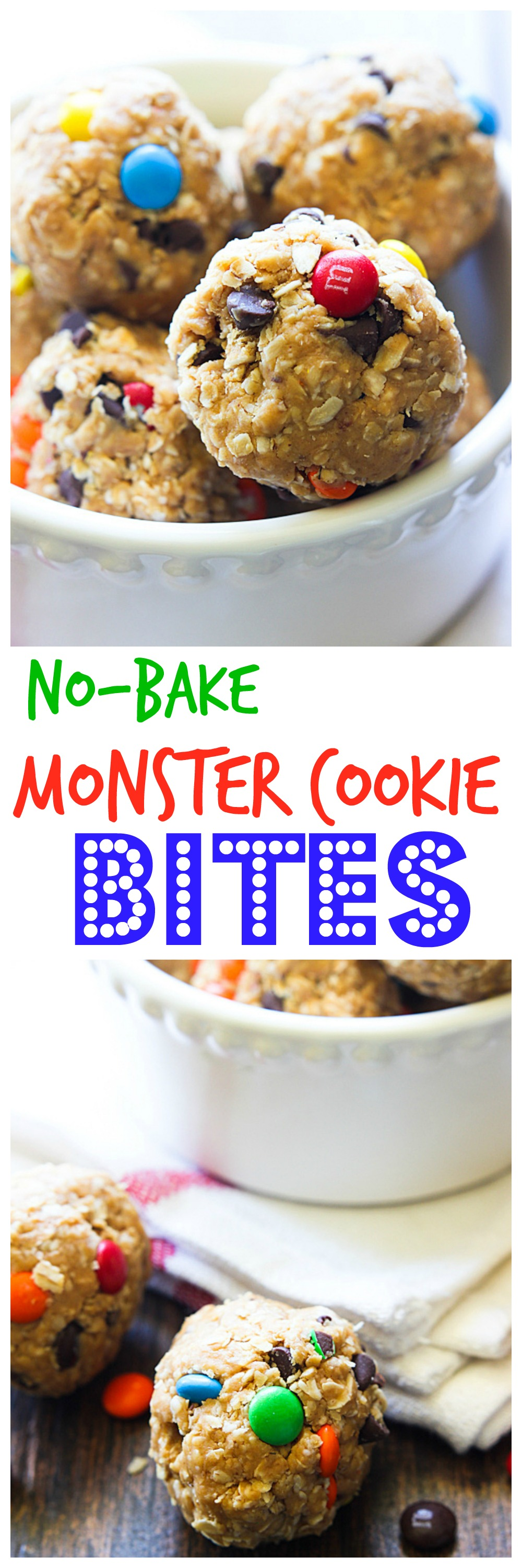 No-Bake Monster Cookie Bites